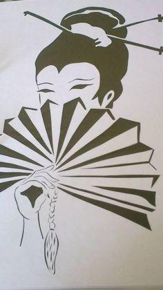 Japanese Drawings, Japanese Art, Kirigami, Sliceform, Screen Printing Press, Laser Paper, Scroll Saw Patterns, Stenciling, Handmade Home