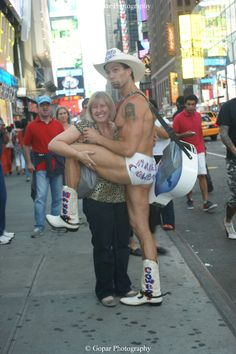 The Naked Cowboy In Times Square NYC 6-9-2012