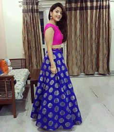 85c29a585be21 Stunning Indian Dresses For Ladies. Keerthi Keshavulu · Indian Skirt and crop  top