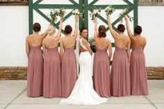 View and Shop Dessy Real Wedding Photos Bridesmaid Poses, Mismatched Bridesmaid Dresses, Bridesmaid Dress Colors, Brides And Bridesmaids, Wedding Dresses, Bride And Bridesmaid Pictures, Marron Bridesmaid Dresses, Beach Wedding Bridesmaid Dresses, Bridal Party Dresses