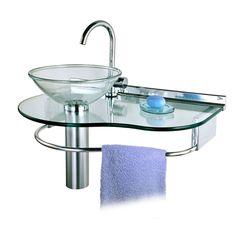 Lavabo Cris Glass Água Marinha 70 x 45,5 - 977 - CRIS-METAL