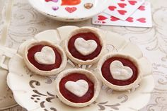 Queen of Hearts Strawberry Tarts recipe   [ http://family.disney.com/recipe/queen-of-hearts-tarts ]