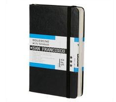 Moleskine Sn. Francisco City Guide Ideal for both visitors and city dwellers alike, this guidebook lets you organize things you want to keep for future reference or for your records such as the names and addresses of restaurants, shops, friends, hotels, or tourist sites. The Key Map summarizes the overall layout of the city, including large-scale maps of the city centre, an alphabetical street index, and map of the metro system.