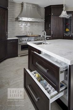 Fancy Kitchens, High End Kitchens, Home Kitchens, Dream Kitchens, Eclectic Kitchen, Kitchen Decor, Kitchen Themes, Kitchen Ideas, Kitchen Appliance Storage