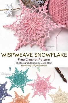 Free Snowflake Crochet Pattern To Impress Your Dear Ones! - Knit And Crochet Daily Free Snowflake Crochet Pattern To Impress Your Dear Ones! - Knit And Crochet Daily,crochet basket + doily Free Snowflake Crochet Pattern To Impress Your Dear Ones! Crochet Snowflake Pattern, Crochet Motifs, Crochet Snowflakes, Crochet Flower Patterns, Thread Crochet, Crochet Crafts, Crochet Flowers, Crochet Stitches, Crochet Projects