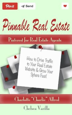 "Pinnable Real Estate: Pinterest for Real Estate Agents: H... https://www.amazon.com/dp/B00JVZPCP8/ref=cm_sw_r_pi_dp_qPMmxbC72H6ZV  The National Association of Real Estate says Pinterest is driving more traffic than google+ & YouTube, AND the largest category on Pinterest is ""HOME"", but most real estate agents aren't capitalizing on this.   Pinnable Real Estate: Pinterest for Real Estate Agents is written for real estate agents specifically, on becoming a power pinner & succeeding in real…"