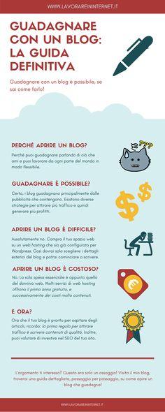 Infografica Guadagnare Con Un Blog, La Guida