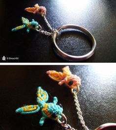 Fish, just like Pisces, my mother's sign! And as she always complains I don't create anything to her, here is a keychain for her!!! I'm really proud of this. It looks really good! The fish was very...