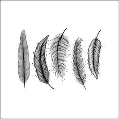 Instant Download Art Feather Ink Drawing Digital von evascreation, €9.80