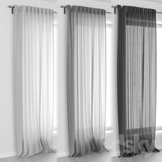 3d models: Curtain - IKEA AINA Curtains