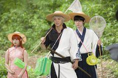 Capturas del rodaje de la película live-action de Gintama.