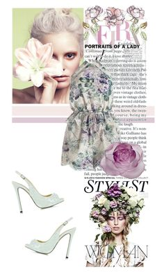 """""""A Day Out With Floral"""" by alexthesnowfairy ❤ liked on Polyvore featuring KAROLINA, Zimmermann, Daum, Universal Lighting and Decor and Philipp Plein"""