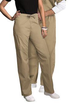Cherokee Workwear unisex cargo drawstring scrub pant.