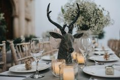 On a Day Like This showcase their rustic and earthy 'Enchanted' wedding-styling theme at Nottingham's Wollaton Hall wedding venue.