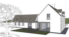 House Renovation Ireland, Small House Renovation, Bungalow Renovation, House Designs Ireland, Dormer House, Cottage Extension, Small Bungalow, Rural House, Cottage Plan
