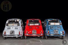Three Fiat 500 N's together!
