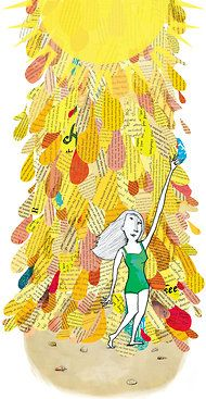 Illustration by Brianne Farley for NYT Summer Reading piece