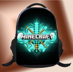 322cfc7f4e6  Diamond  Minecraft Custom Backpack Schoolbags by BirthdayPartyS School  Bags, Minecraft, Snacks