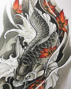 Coy Fish Tattoos, Asian Tattoos, Oriental Tattoo, Irezumi, Koi, I Tattoo, Anime, Instagram, Ideas