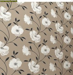 Floral-pattern-wallpaper-1 Floral Pattern Wallpaper, Prints, Decor, Decoration, Floral Wallpapers, Dekoration, Inredning, Interior Decorating, Deco