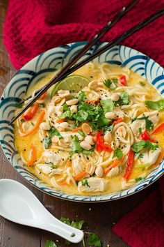 Thai Chicken Ramen by cookingclassy #Ramen #Chicken #Thai