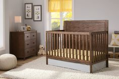 Delta Children Rustic Oak Cambridge 4-in-1 Crib