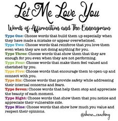 Words of Affirmation for each Enneagram Type Enneagram Type One, Enneagram Types, Personality Psychology, Mbti Personality, Words Of Affirmation, Thing 1, Found Out, Enfp, Type 4