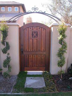 Custom Wood Gate by Garden Passages www.gardenpassages.com