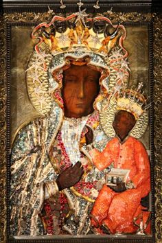 Black Madonna, Czestochowa, Poland this and OL Mercy are my two favorite images of Our Lady Blessed Mother Mary, Blessed Virgin Mary, Religious Icons, Religious Art, Mary Magdalene And Jesus, Our Lady Of Czestochowa, Jean Paul Ii, La Madone, Images Of Mary