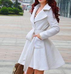 6 color white black red long jacket Wool Coat Women jacket  high quality winter long coat belt jacket women clothing winter office coat on Etsy, $89.99