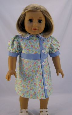 Doll Clothes 1920's Era Dress fits American Girl Doll Ruthie, Kit or other 18 inch Dolls. $25.00, via Etsy.