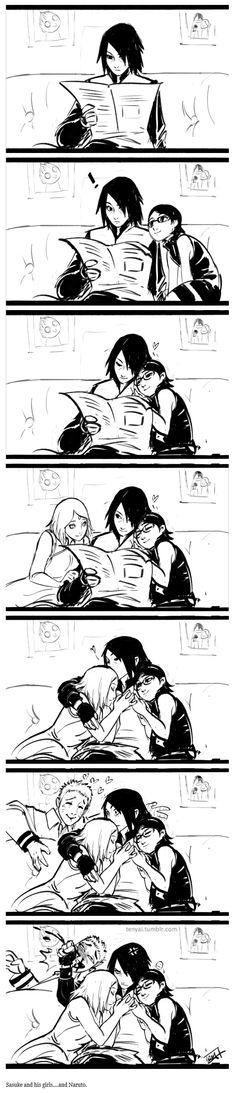 <3 Sasuke, Sakura, Sareda & Naruto