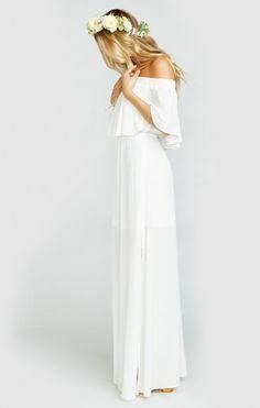 Hacienda Maxi Dress ~ Ivory Crisp | Show Me Your MuMu