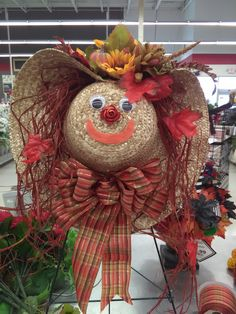 Scarecrow hat/wreath