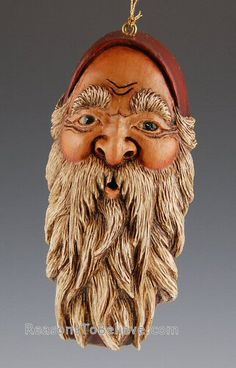 Carved Santa ornament--Sold out-unavailable.