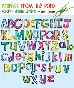 Spring Scrappy Letters Clipart Pack!