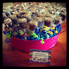 Marshmallow pops at a  Candyland Party #candyland #party