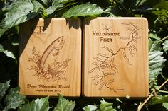Casting for Recovery River Map Fly Box - Cherry Wood -  CFR is an awesome organization dedicated to helping women with breast cancer.