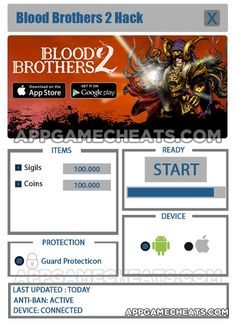 Blood Brothers 2 Hack Cheat 2016 tool download. With updated Blood Brothers 2 Hack you will have just fun. Try Blood Brothers 2 Hack tool. Blood Brothers 2 Hack working with last update.