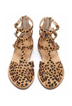 Loeffler Randall Resort Collection - Leopard Gladiator Sandal.