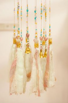 Pastel Glass Beaded Bohemian Wind Chime With #glassbeadstrands #ceilinghanging #bellsdecor #bellwindchimes #windchimes #hangingbeadedbell #hangingbells #uniquewindchimes #beadedsuncatcher #glasswindchimes #outdoorwindchimes #gardenwindchimes #crystalsuncatcher Large Wind Chimes, Ceiling Hanging, Indian Fabric, Beaded Curtains, Swarovski Crystal Beads, Stained Glass Art, Bohemian Decor, Glass Beads, Just For You