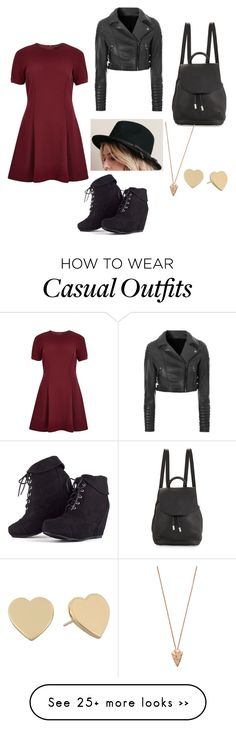 """Casual"" by pieismycaffine on Polyvore featuring River Island, Glamorous, rag & bone, Kate Spade and Pamela Love"