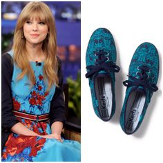 Add a dash of drama to your holiday look like Taylor Swift in rich jewel-tones. #shoesdaytuesday keds.com