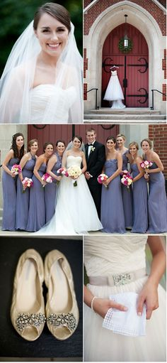 Hickory Wedding by Anne McGowan | Style Me Pretty    Reem Acra Orchid Fall 2010