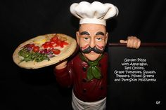 Garden Pizza with Mozzarella, Asparagus, Peppers, Tomatoes, Mixed Greens   Eatright Art