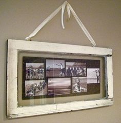 Single Pane Window Picture Frame  **use hanger with ribbon to hold for fame or window or screen