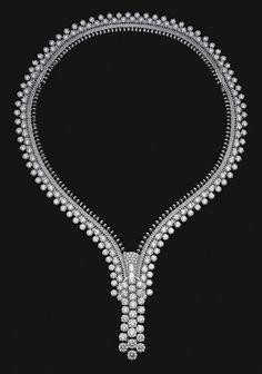 Van Cleef & Arpels - 3 rangs zip necklace by Van Cleef & Arpels, via Flickr