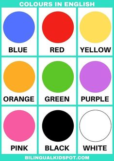 Colours in English ESL printable 359232507778455397 English Activities For Kids, Learning English For Kids, English Worksheets For Kids, English Lessons For Kids, Kids English, Preschool Learning Activities, Kids Learning, French Lessons, Teaching Spanish