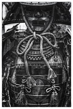 Phantom Warrior 2 (BW Film Noir) by Jon Sheer on Suit of samurai armor for sale at the flea market outside of the Tokyo International Forum in Yurakucho, Tokyo, Japan. A manly man's suit of samurai armor! Kendo, Japanese Culture, Japanese Art, Japanese Dragon, Japanese Style, Samourai Tattoo, Bushido, Armor For Sale, Samurai Artwork