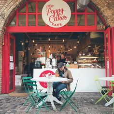 Miss Poppy Cakes cafe in Camden, London. #cafe #coffeeshop